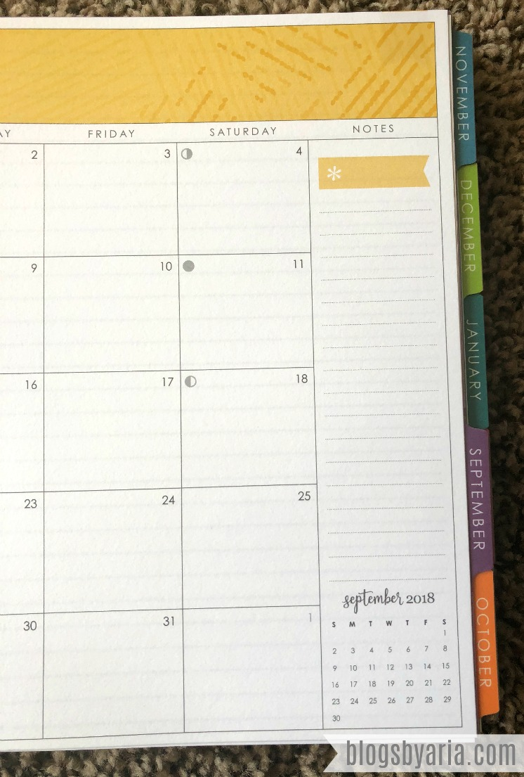 Erin Condren Deluxe Monthly Planner Mini Month Preview