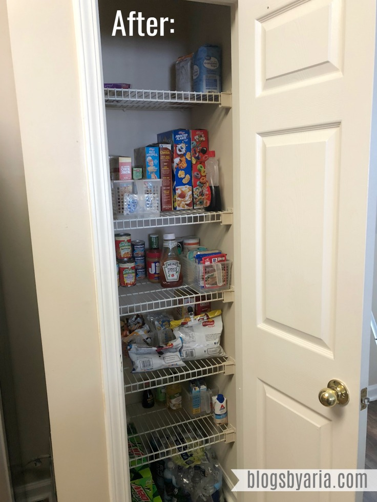 Simple Pantry Organization After