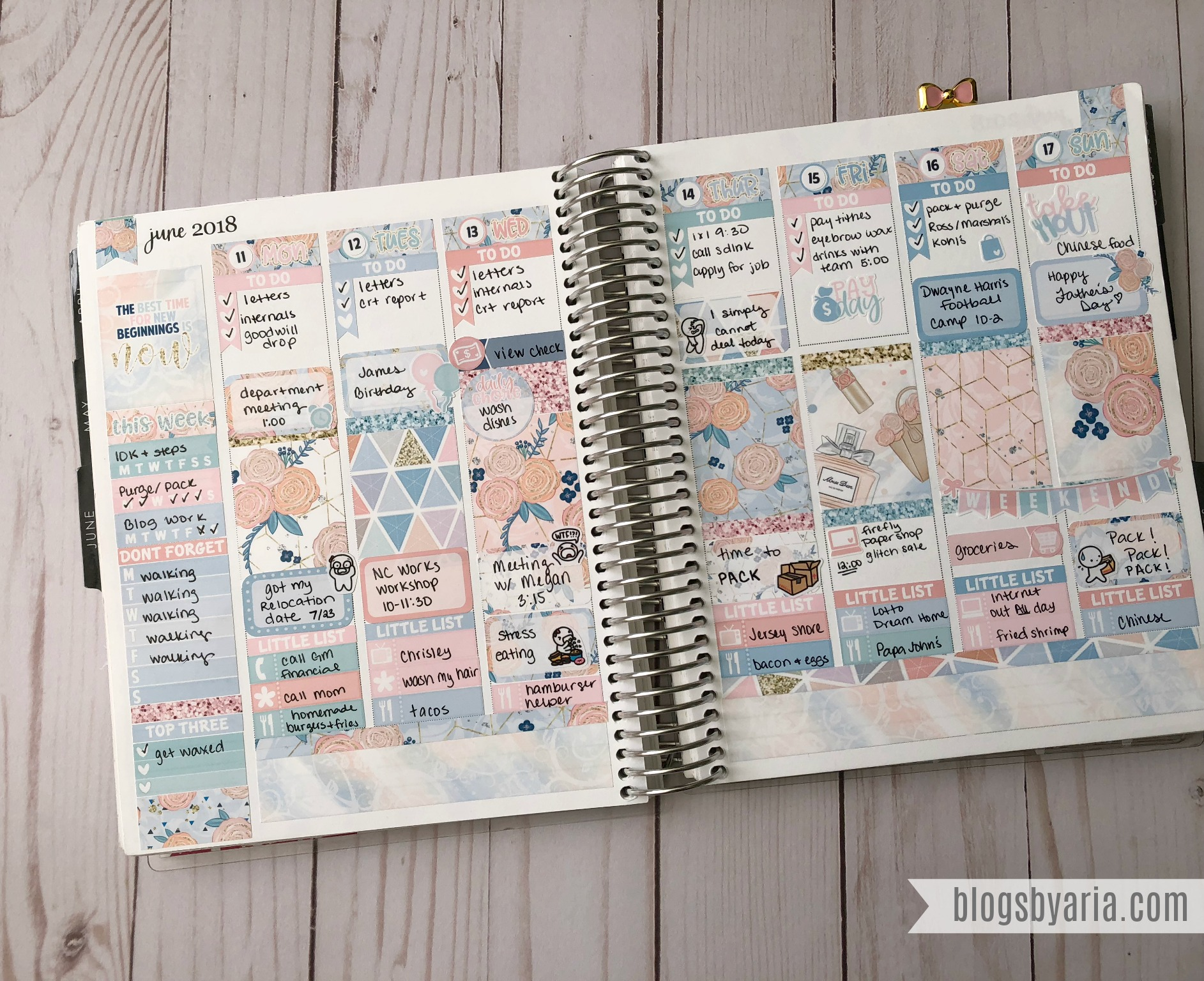 Little Miss Paperie weekly planner spread in my Erin Condren Life Planner