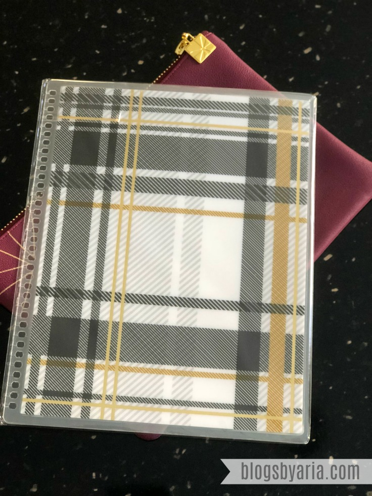 Erin Condren Exclusive Metallic Foil Plaid Interchangeable Cover #ECSurpriseBox