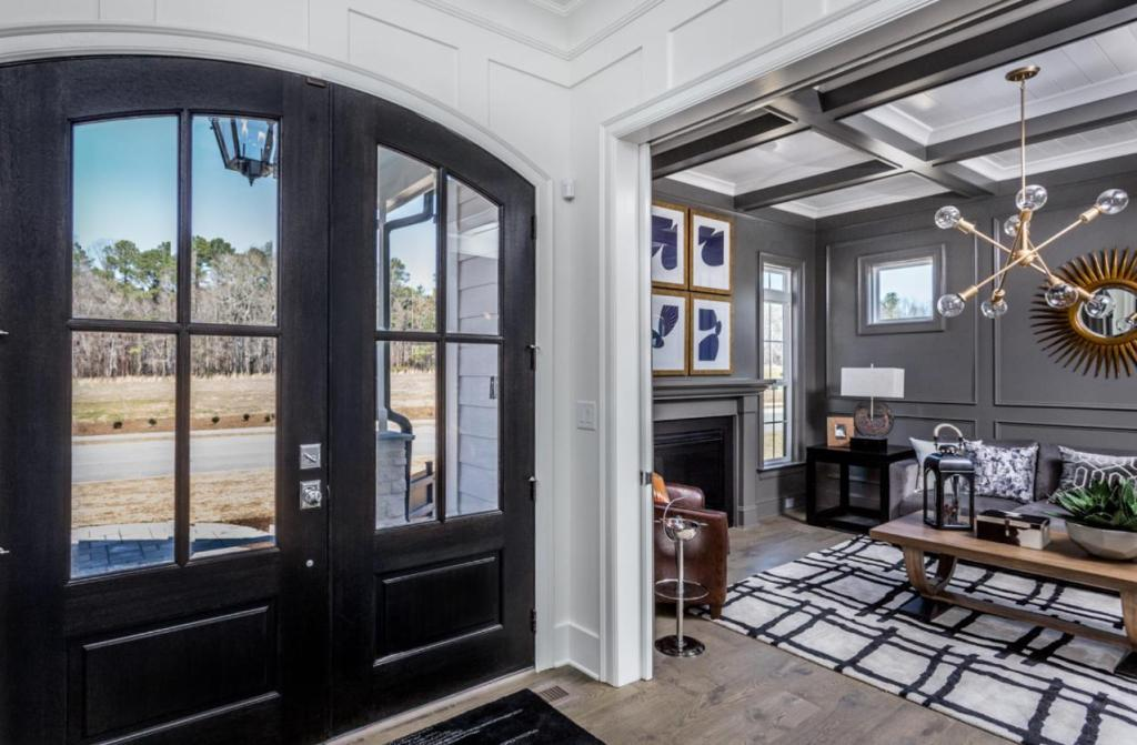 front door gorgeous entryway trim