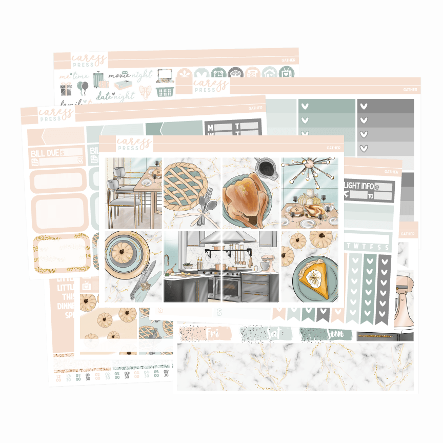 Caress Press Gather Planner Sticker Kit