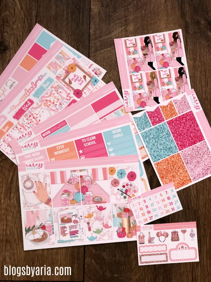 Caress Press Thanksgiving Planner Kit