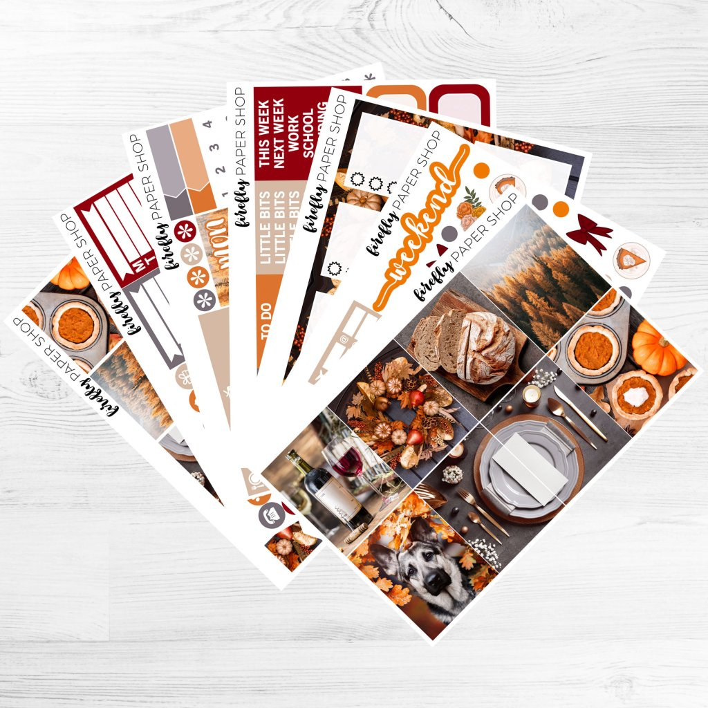 Firefly Paper Shop Give Thanks Planner Kit