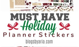 Must Have Holiday Planner Stickers