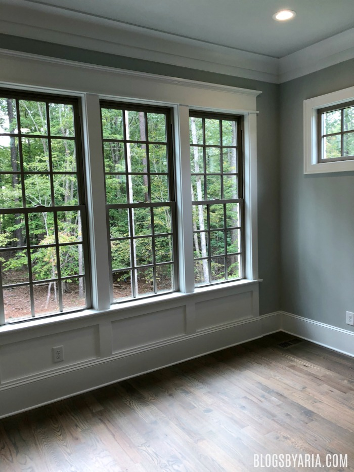 window casings, baseboard and crown molding