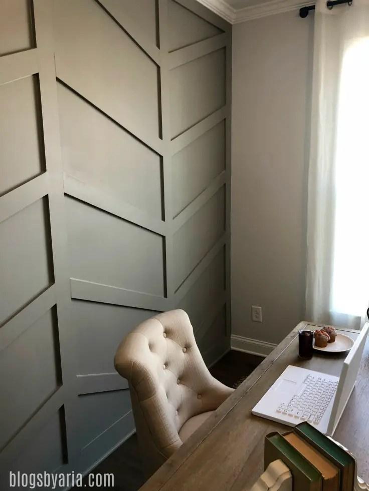 custom wall trim focal wall
