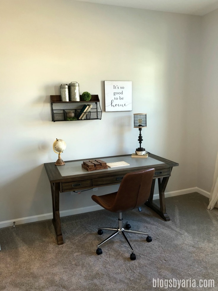 farmhouse desk and study area