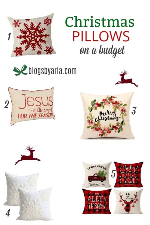Christmas Pillows on a Budget