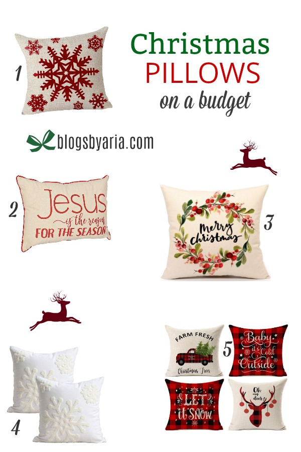 Christmas Pillows on a Budget