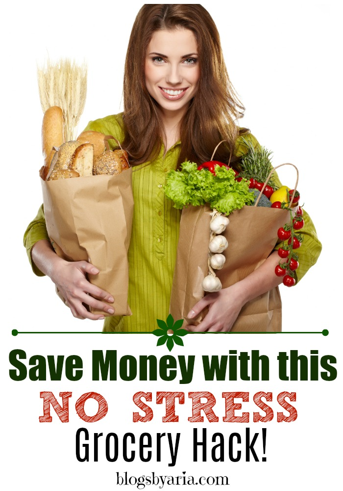 Save money with this no stress grocery hack! #savemoney #frugalliving