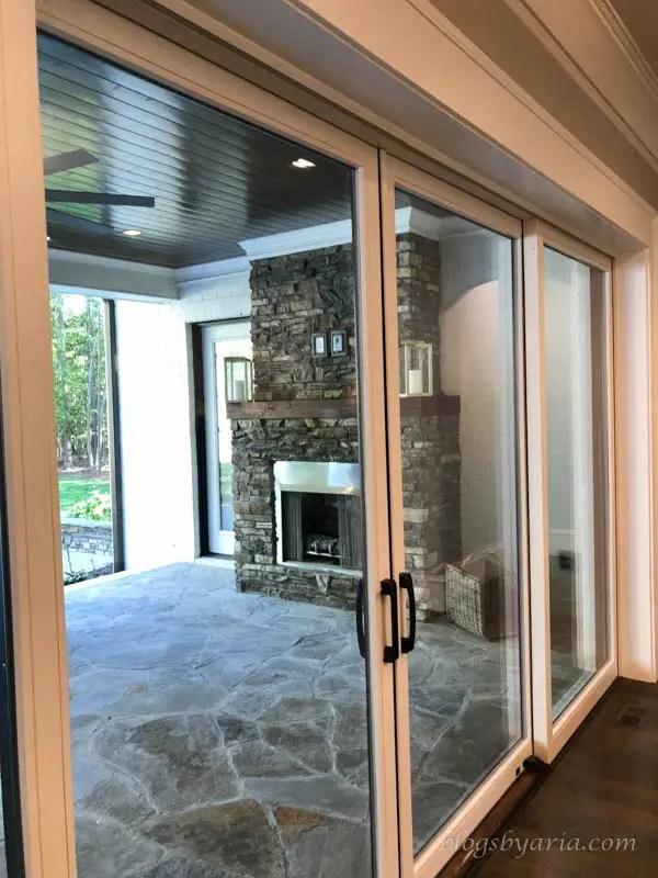 beautiful views to the backyard through these sliding doors