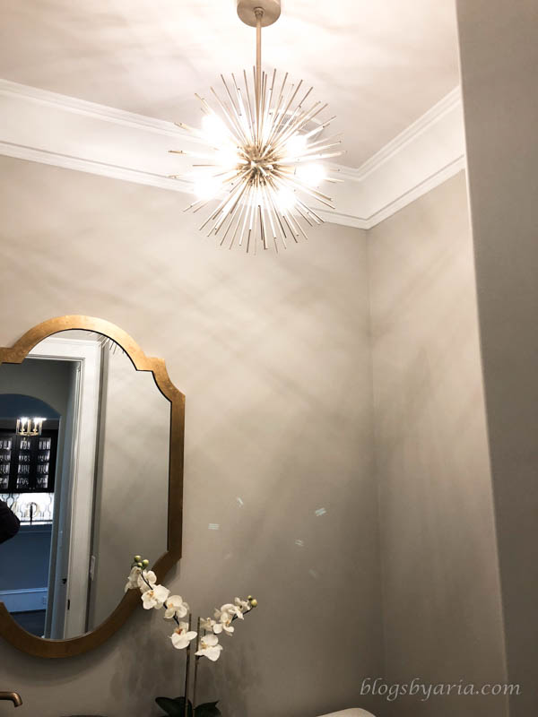 powder bathroom lighting