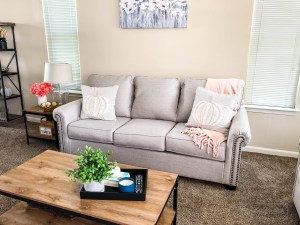 Neutral Fall Decor | Living Room Progress