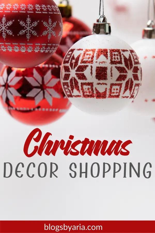 Christmas Decor Shopping