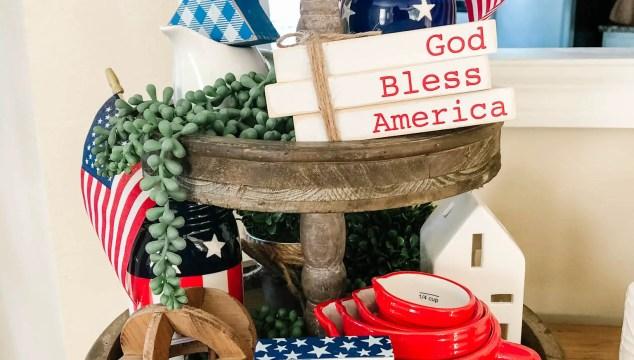 Patriotic Tiered Tray