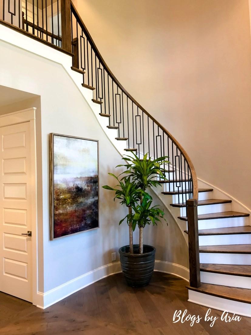 gorgeous entryway staircase