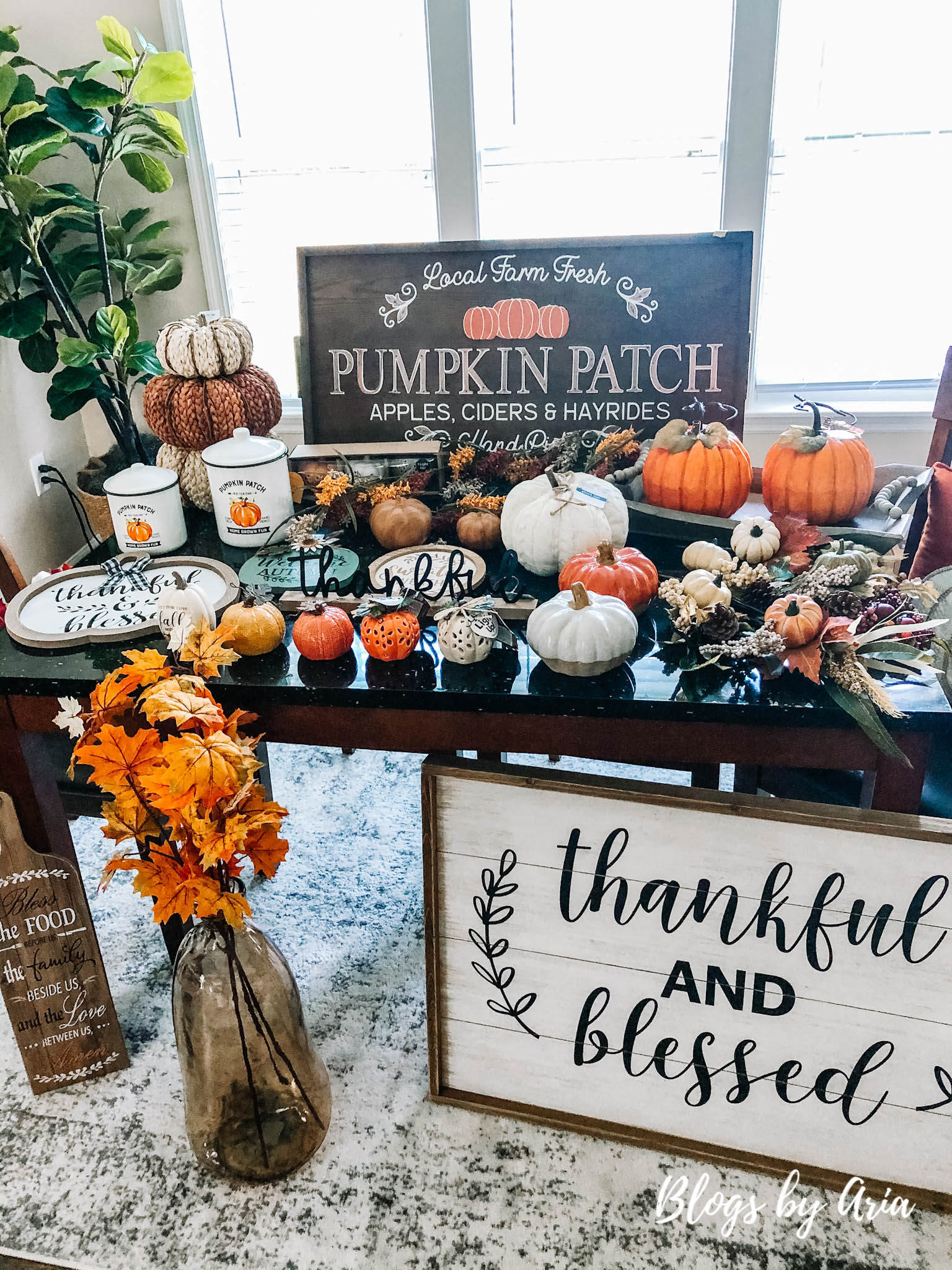 fall haul 2020 pumpkins and signs