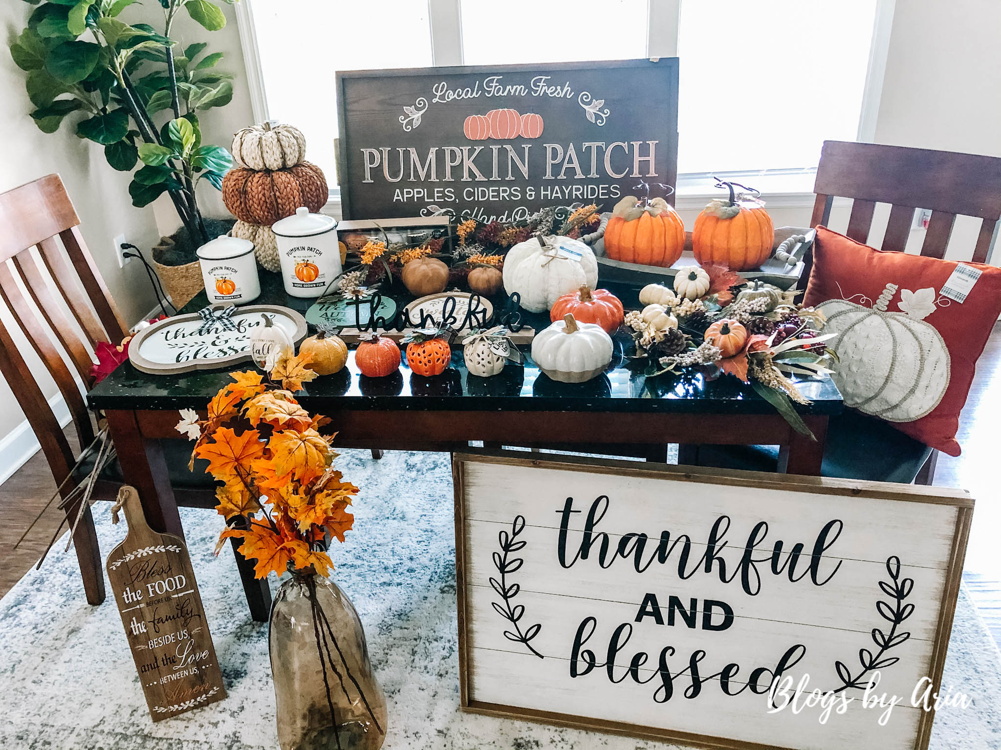fall decor haul featuring hobby lobby, michael's, joann's and kirkland's