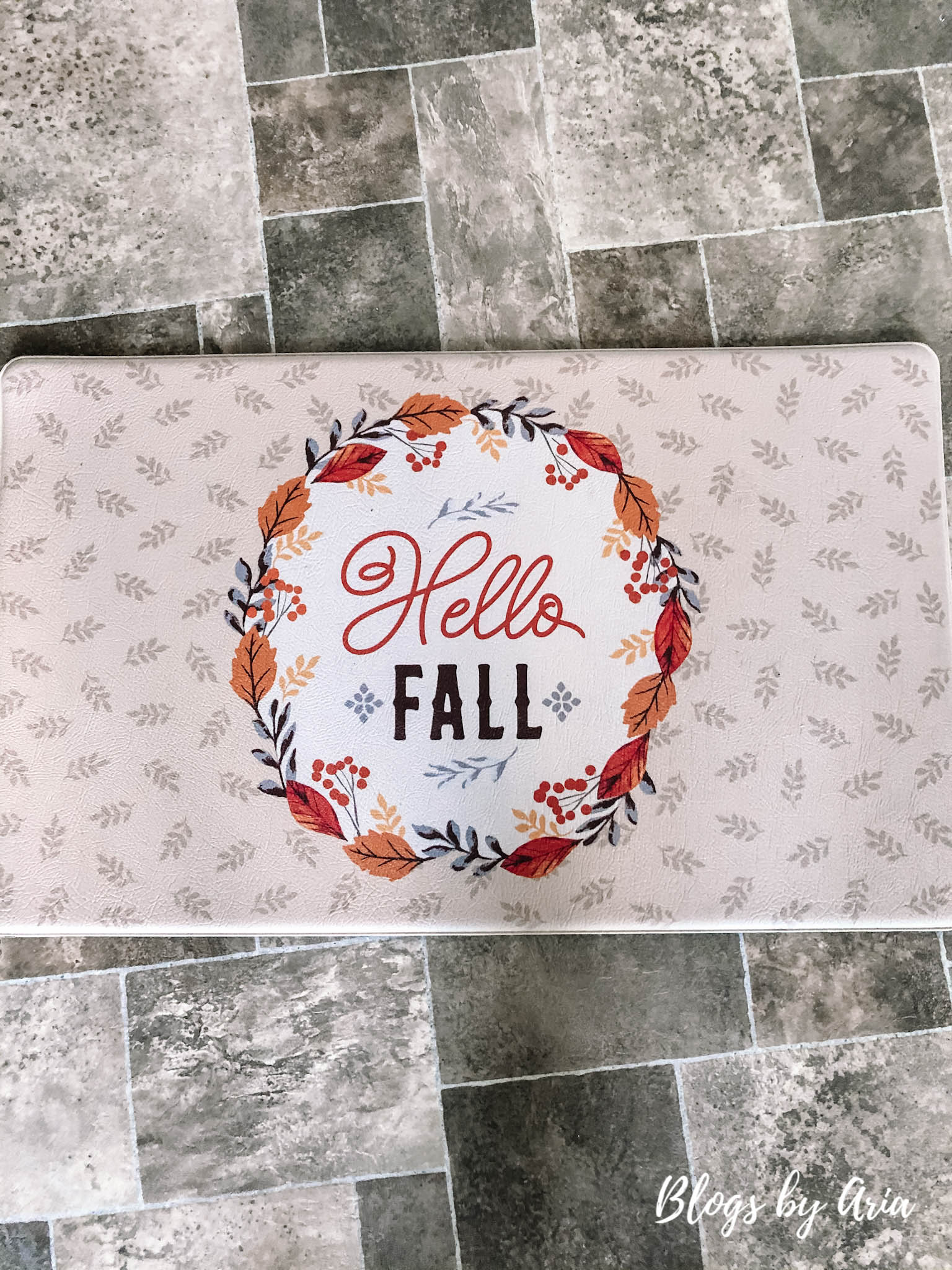 hello fall kitchen mat