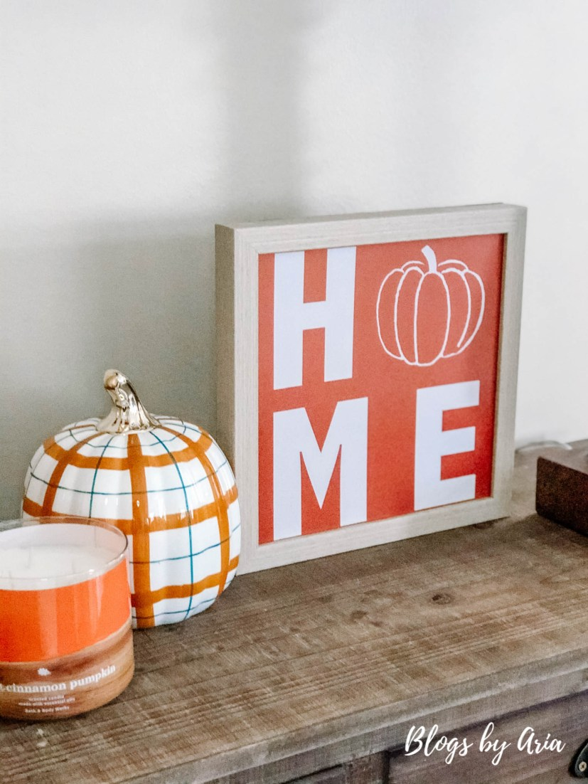create a welcoming feeling with a fall entryway
