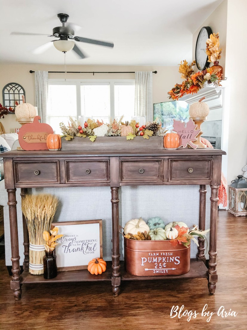 autumn console table