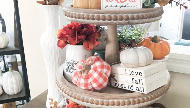 Fall Three Tiered Tray