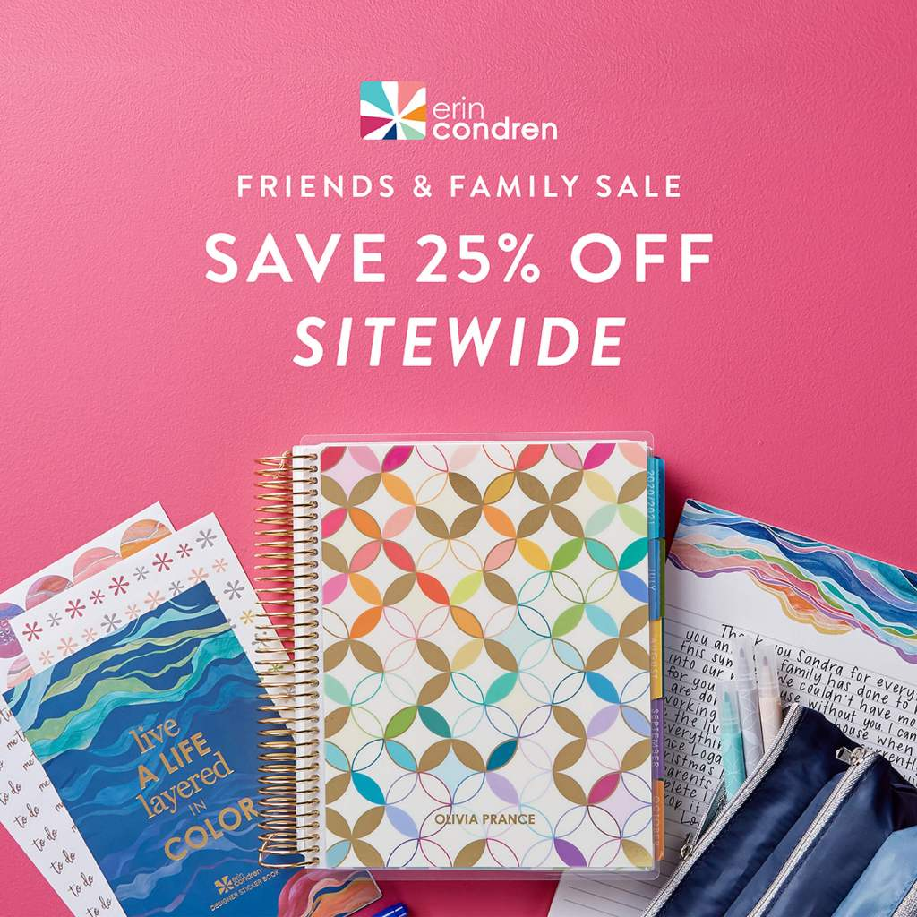 Erin Condren 25% off sale