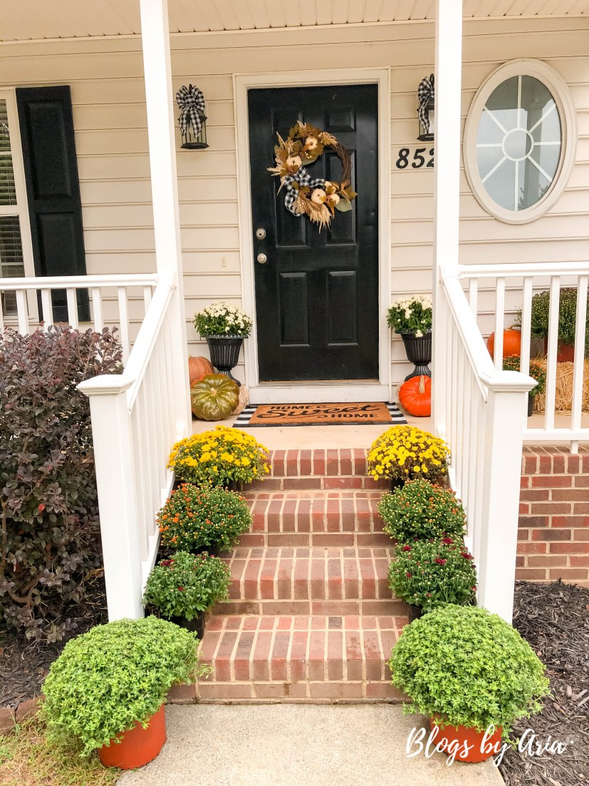 simple fall decor for front porch