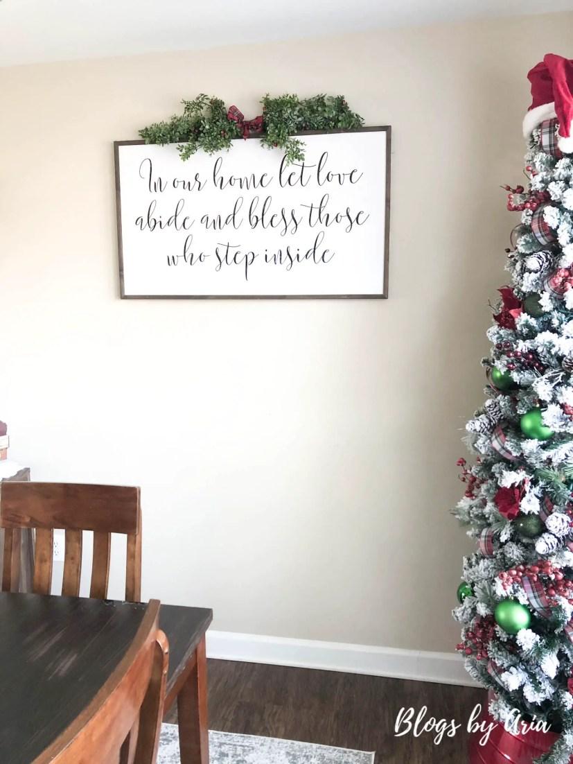 Christmas dining room wall decor