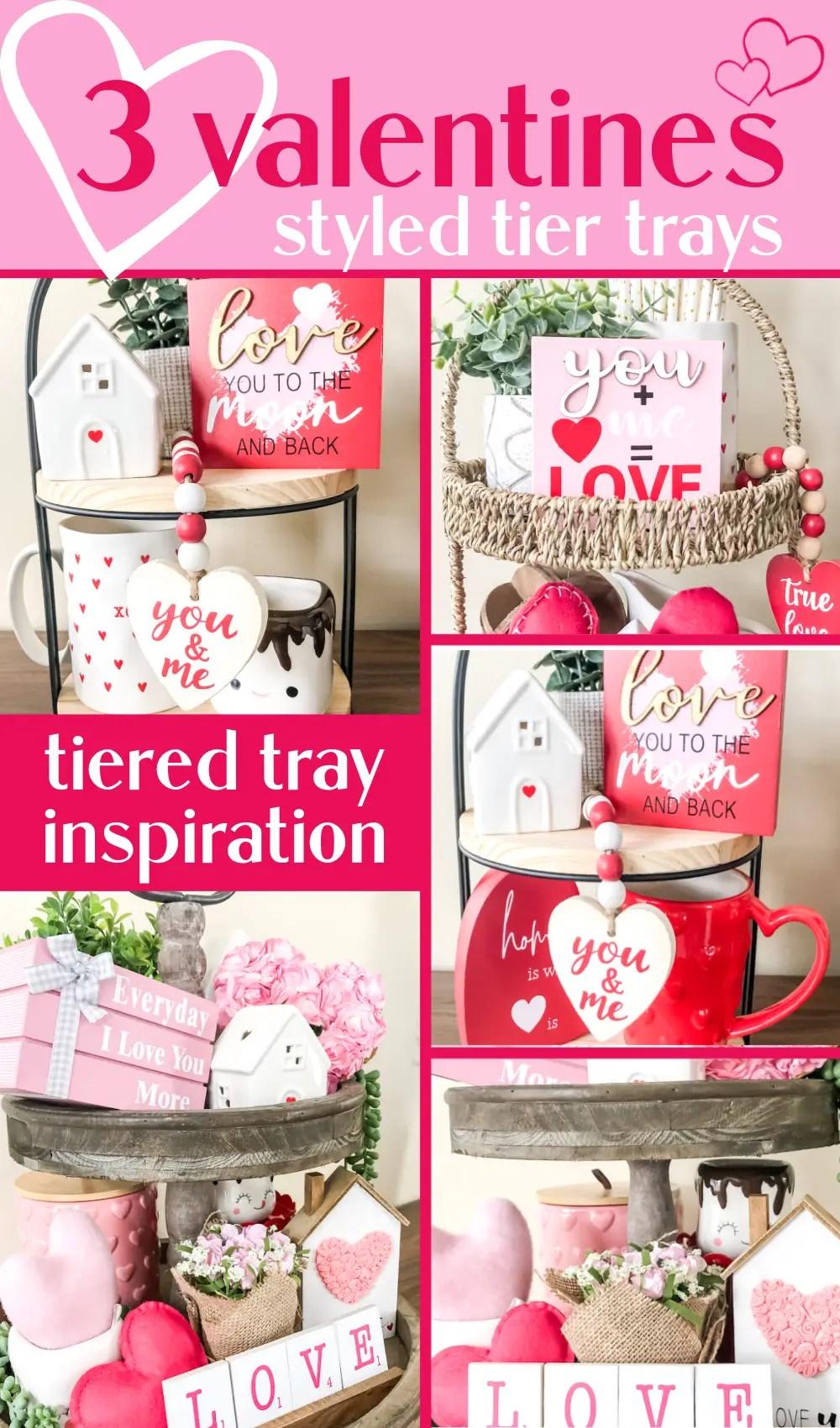 Three ways to style Valentine's day tiered trays