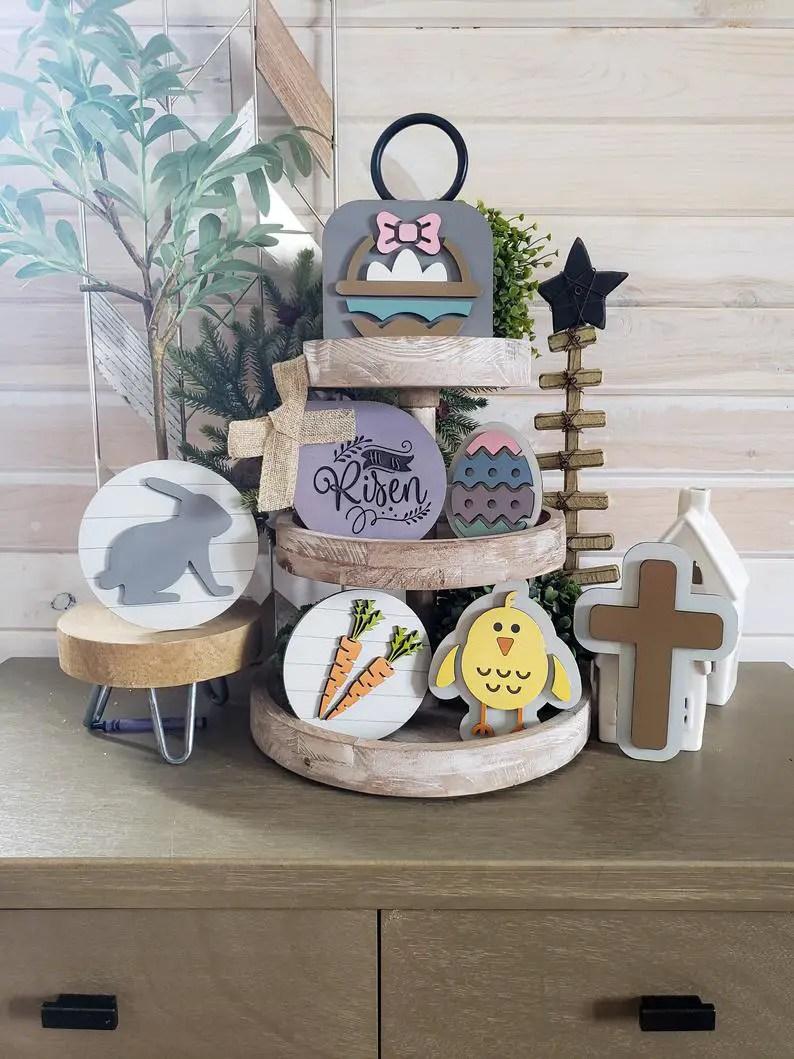 faith based Easter tier tray