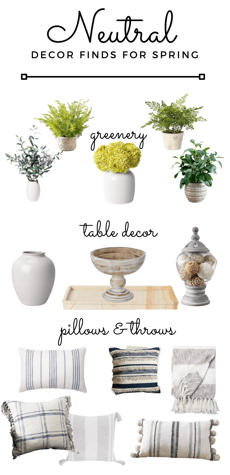 neutral decor finds for spring