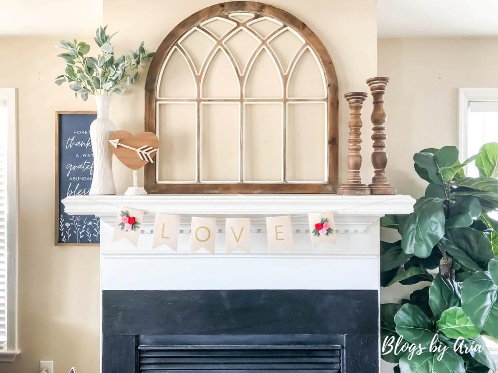 valentine's home decorating fireplace mantle decor