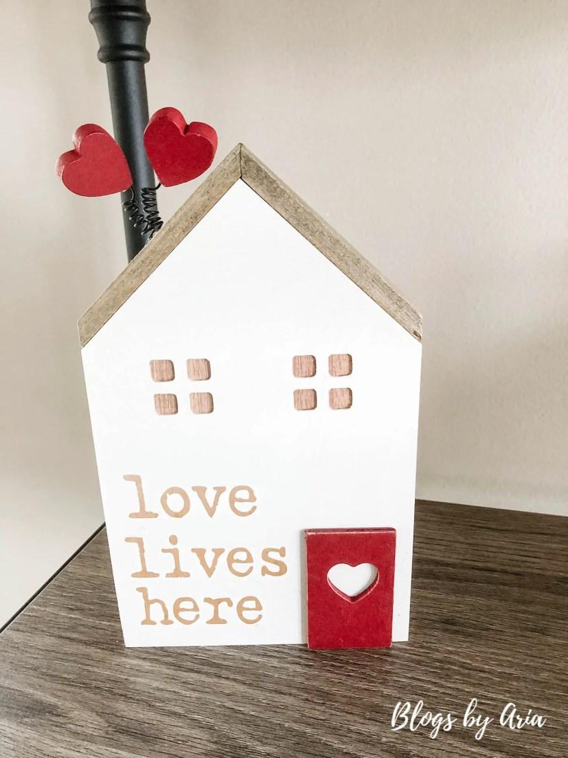 love lives here valentine's decor