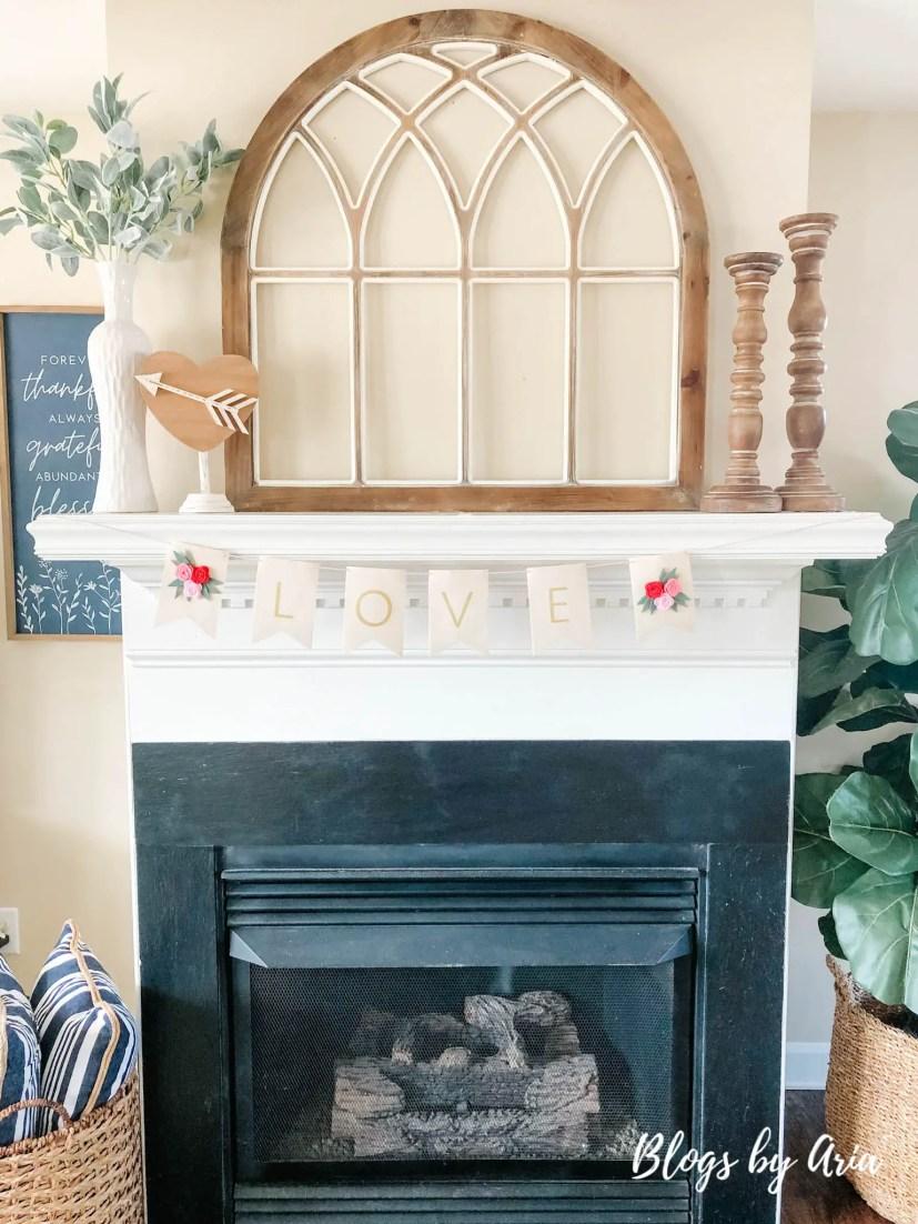 valentine's mantel decorating valentine's home decor ideas