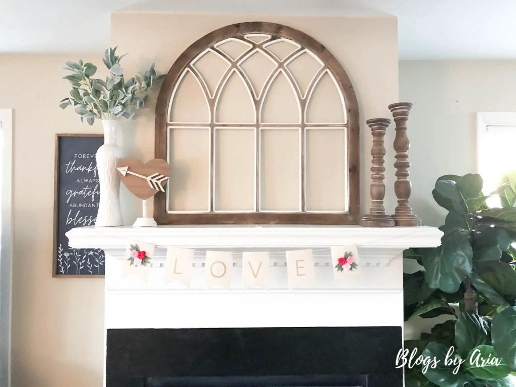 Valentine's fireplace mantle decorating ideas