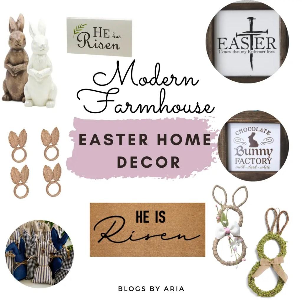 Modern Farmhouse Neutral Easter decor