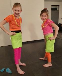 Carnaval neon disco meisje