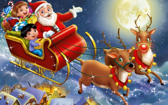 Santa-And-Reindeer-Wallpaper-07