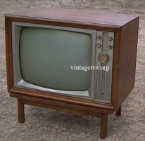 Antique B&W Television