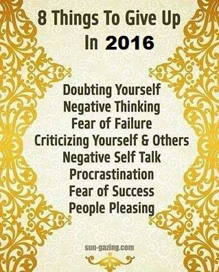 8 Things To Give Up In 2016