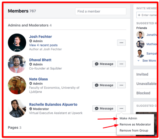 How can I Add Admin to My Facebook Group
