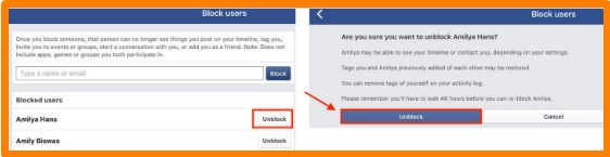 Steps to Unblock Someone on Facebook 2020