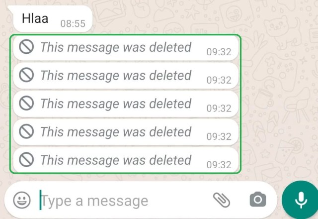 This message was deleted