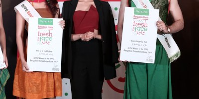 Oppo Times Fresh Face Winners with Pranitha