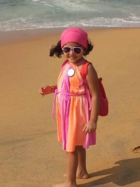Angel at beach