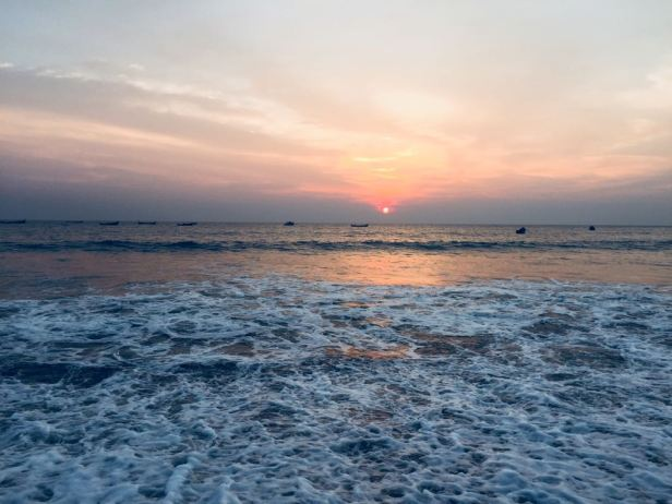 sunset at PALLIKARE beach