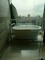 open jacuzzzi on top floors