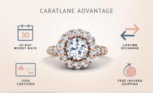 Diamond earrings from Caratlane